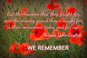 Rememberance day 2015